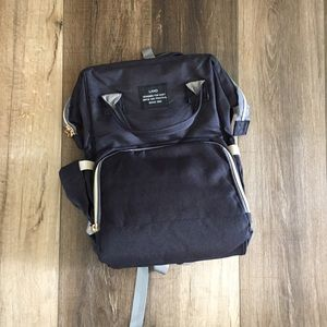 Land backpack diaper bag Wide open design black